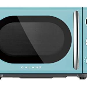 Galanz 0.7 Retro cu. Ft. 700-Watt Countertop Microwave, Bebop Blue