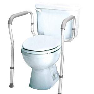 Carex Toilet Safety Rails - Toilet Safety Frame For Elderly, Handicap, or Disabled - Toilet Rails For Home Use