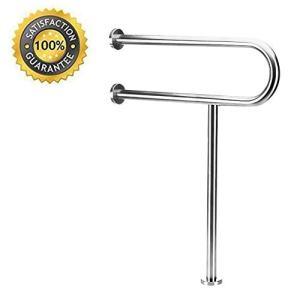 Toilet Grab Bar, 24-Inch safety Bathroom rail Heavy Duty Screw-in Assist handles for ADA Bathroom