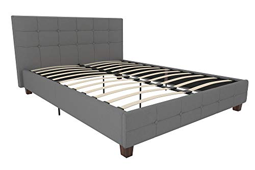 DHP Rose Linen Upholstered Platform Bed Guarantee: 1 yr restricted guarantee.