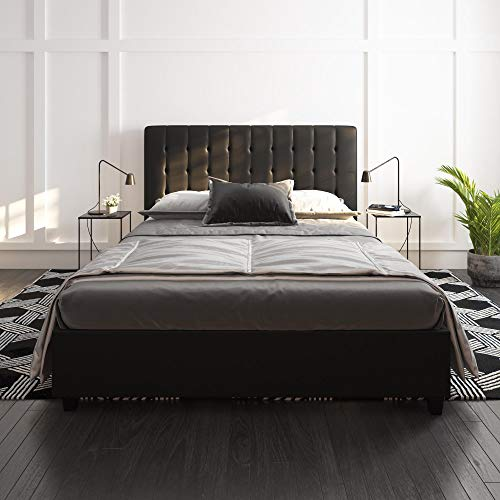 DHP Emily Upholstered Faux Leather Platform Bed with Wooden Slat Support Package deal Dimensions: 58.5 x 80.zero x 43.zero inches