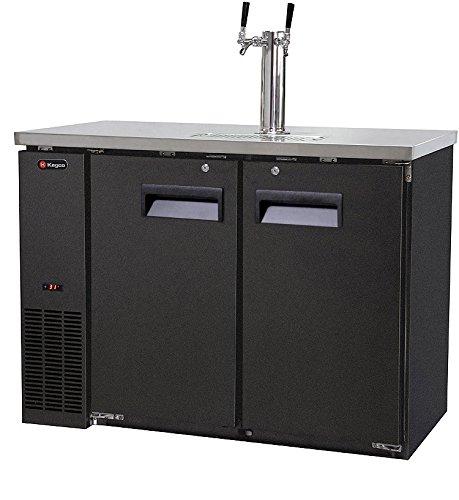 Kegco Kegerator Commercial Grade Two Keg Beer Dispenser - Dual Faucet