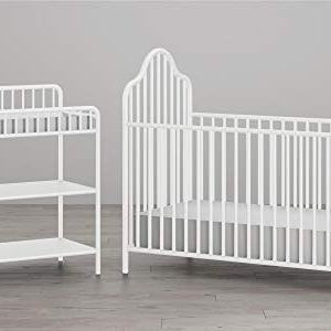 Little Seeds Rowan Valley Lanley Metal Crib and Changing Table Set, White