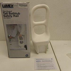 Lumex Tub Guard Bathtub Safety Rail, White, Tall Model Provides Two Gripping Surfaces, 16 1/2 Inch