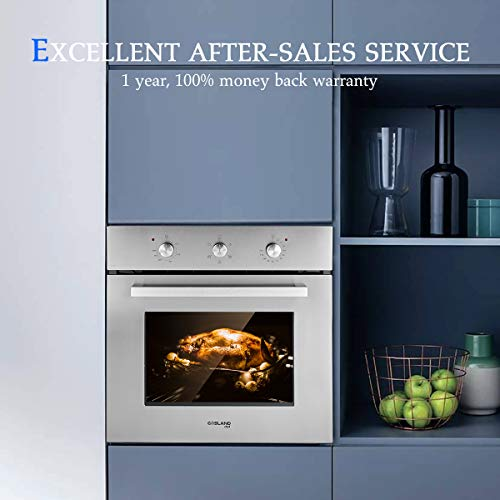 """Electric Single Wall Oven, GASLAND Chef 24"""" Built-in Electric Ovens Package deal Dimensions: 23.5 x 22.5 x 23.5 inches"""