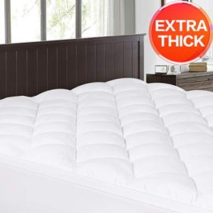 Abakan Cal King Mattress Topper Extra Thick Mattress Pad Cover Super Soft Breathable Down Alternative Fill Pillow Top Bed Topper with 8-21Inch Deep Pocket