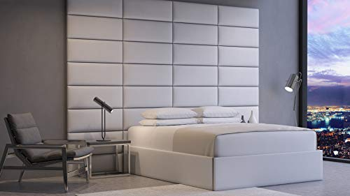 Vänt Upholstered Wall Panels - Queen/Full Size Wall Mounted Headboards Bundle Dimensions: 31.1 x 13.eight x 10.6 inches