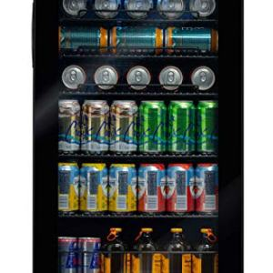 NewAir 126 Can Freestanding Beverage Fridge, Black