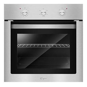 "Empava 24"" Electric Single Wall Oven with Basic Broil/Bake Functions Mechanical Knobs Control in Stainless Steel, SA01"