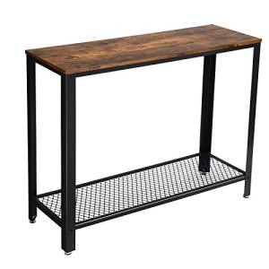 "VASAGLE Industrial Console, Sofa Table, for Entryway, Living Room, Easy Assembly ULNT80X, 40.0""L x 13.8""W x 31.5""H, Rustic Brown"