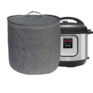 Dust Cover for Instant Pot Pressure Cooker, Cloth Cover with Pockets for Holding Extra Accessories, Waterproof Easy Cleaning (Gray, For 8 Quart Instant Pot)