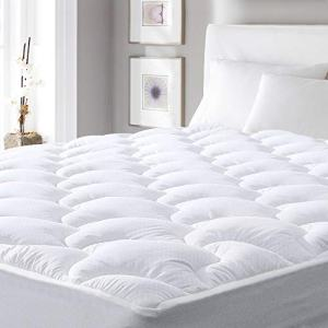 """viewstar Cooling Mattress Pad Queen,Extra Thick Mattress Pad Cover, Pillow Top Mattress Pad Protector with Down Alternative Fill,6-21"""" Deep Pocket for Queen Size Bed Soft and Breathable,Queen"""