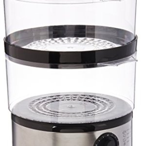 Brentwood Electric 2-Tier, 5 Quart, Stainless Steel