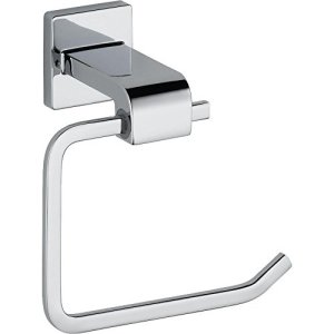 Delta Faucet 77550 Ara Toilet Paper Holder, Single Post, Chrome