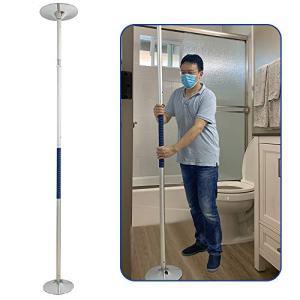 Security Pole Grab Bars for Bathroom Bathtub Floor to Ceiling Transfer Pole Handicap Bars 8.8-10ft Bathtub Handle Toilet Safety Rails Shower Support Poles Bed Assist Bar (Aluminum Diameter 40mm)