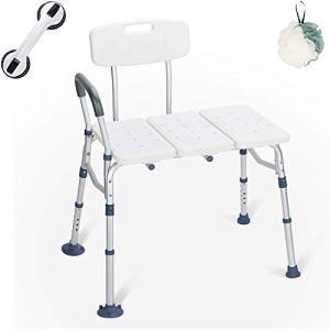 GreenChief Bariatric Tub Transfer Bench 400 Lb - Heavy Duty Bath & Shower Assist - Adjustable Handicap Shower Chair - Medical Bathroom Accessibility Aid for Elderly, Disabled, Seniors