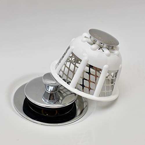Tubbrella the Most Innovative Bathtub Drain Strainer/Hair Catcher (white)