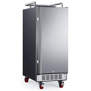 "EdgeStar BR1500SS 15"" Built-In Kegerator Conversion Refrigerator - Stainless Steel"