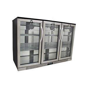 """Procool Refrigeration 3-door Glass Front Stainless Steel Back Bar Cooler; 54"""" Wide, Counter Height Refrigerator"""