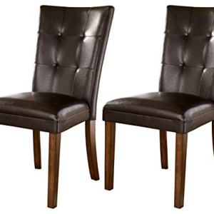 Signature Design by Ashley - Lacey Dining Side Chair - Set of 2 - Medium Brown Finish