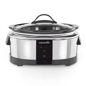 Crock-pot 2101704 6 Quart Slow Cooker Works with Alexa | Programmable Stainless Steel