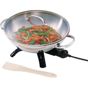 Presto Stainless Steel Electric Wok by Supernon