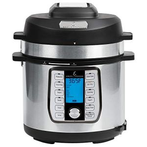 Emeril Everyday 8 QT With Accessories Pressure Air Fryer, 5 Pc Pack, Silver