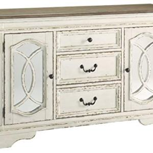 Signature Design By Ashley - Realyn Dining Room Server - Casual Style - Chipped White