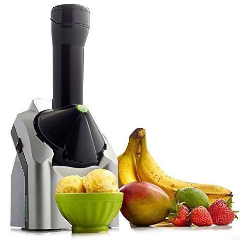 Yonanas Classic Original Healthy Dessert Fruit Soft Serve Maker Creates Fast Easy Delicious Dairy Vegan Alternatives to Ice Cream Frozen Yogurt Sorbet Includes Recipe Book BPA Free, Silver