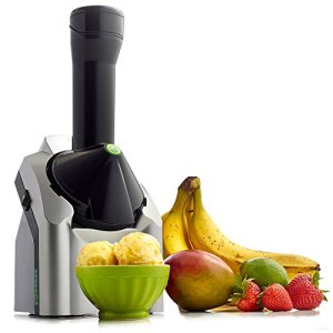 Yonanas Classic Original Healthy Dessert Fruit Soft Serve Maker Creates Fast Easy Delicious Dairy Vegan Alternatives to Ice Cream Frozen Yogurt Sorbet Includes Recipe Book BPA Free, Silver