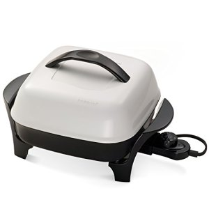 Presto 06620 11-Inch Electric Skillet,Black/White