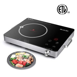 Electric Ceramic Cooktop,Cooker stove with Timer Temperature Control, Smart Touch Sensor Electric Ceramic Cooker Cooktop Countertop Burner for All Cookware