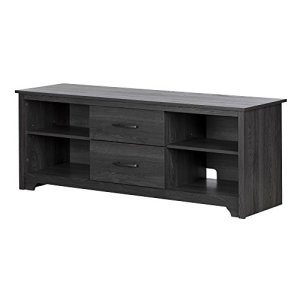 South Shore Fusion TV Stand with Drawers, Gray Oak,