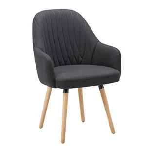 NOVIGO Upholstered Accent Chair with Wooden Leg and Seat Cushion for Modern Guest Reception Living Bed Room Dorm Home Office