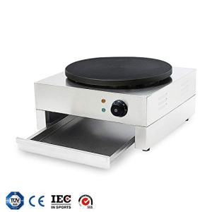 "HUIDANGJIA 16"" Electric Crepe Machine Commercial Crepe Maker Machine Pancake Griddle Electric Non-stick Hot Plate Snack Machine 110V"