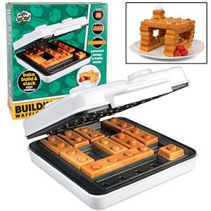 CucinaPro Building Brick Electric Waffle Maker- Cooks Fun, Buildable Waffles in Minutes - As seen on Viral Kickstarter