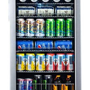 NewAir 126 Can Freestanding Beverage Fridge, Stainless Steel - Limited Edition Design