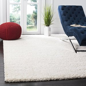 Safavieh Milan Shag Collection SG180-1212 Ivory Area Rug (8' x 10')