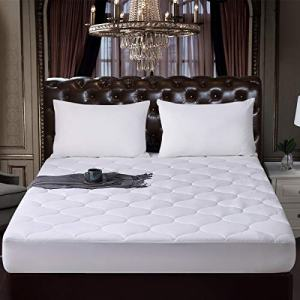 """ELNIDO QUEEN Mattress Pad Quilted Fitted Mattress Cover for Pillow Top Mattresses Deep Pocket Fits Up to 8-21"""" - Breathable Mattress Topper California King"""
