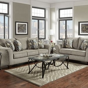 Roundhill Furniture Camero Sofa And Loveseat Set
