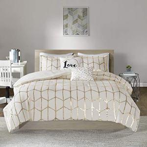 Intelligent Design Raina Comforter Set, Twin/Twin XL, Ivory/Gold
