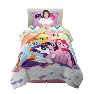 Franco Kids Bedding Super Soft Comforter and Sheet Set, 4 Piece Twin Size, My Little Pony