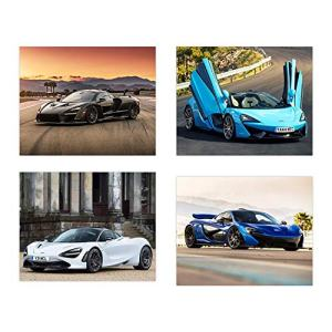 Insire Mclaren Poster | Set of Four 8x10 Sports Car Wall Art | Senna | 720s | P1 | 570GT Exotic Cars Poster