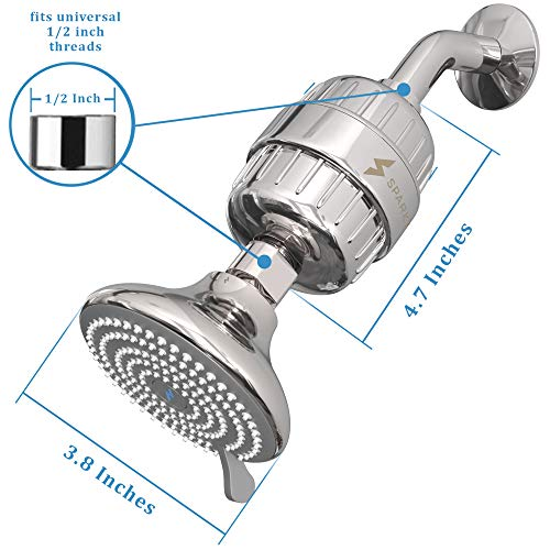 SparkPod Shower Filter Head - Filtered Shower Head with Proprietary Shower Filters Model: SparkPod