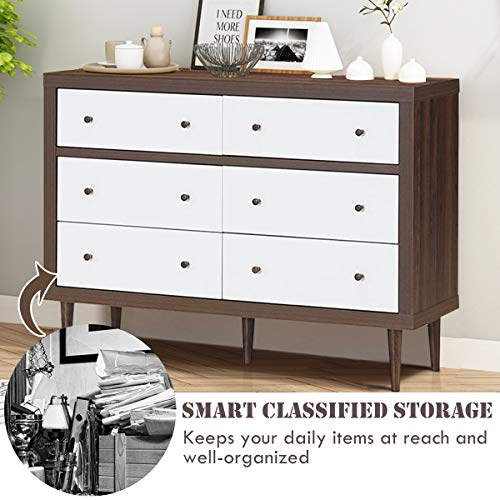 Giantex Drawer Dresser Wooden Chest W/Drawers, Sliding Rail and Stable Frame Bundle Dimensions: 47.zero x 15.5 x 34.zero inches