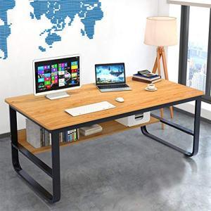 "Computer Desk 47 Modern Sturdy Office Desk,Solid Wood Office Desk Study Writing Desk for Home Office,Light Walnut (47.2"")"