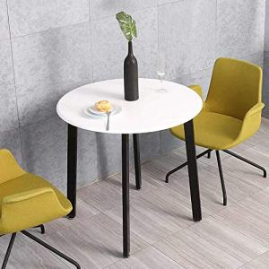HOMOOI Round Dining Table, White Kitchen Round Table for Small Spaces, Studio Apartment, RV