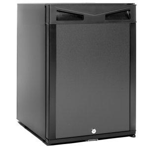 Smad Hotel Mini Bar Single Door 12V 110V Compact Refrigerator with Lock Reversible Door No Noise, 1.0 cu.ft