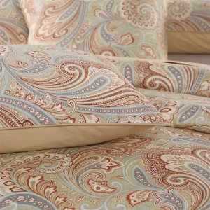 Brandream Luxury Pillowcase Set King/Cal-King, Set of 2, Gold Paisley Printed, 800 Thread Count 100% Egyptian Cotton
