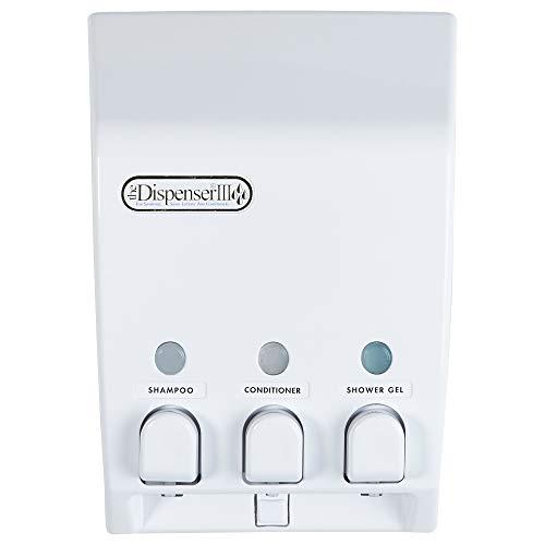 Better Living Products 71355 Classic 3-Chamber Shower Dispenser, White